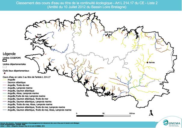 Carte Bretagne Cours Deau.Dce Et Textes D Application
